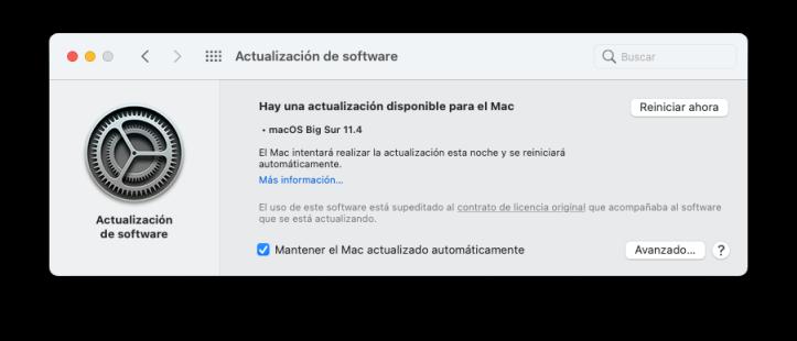 Actualizar macOS a la última versión disponible