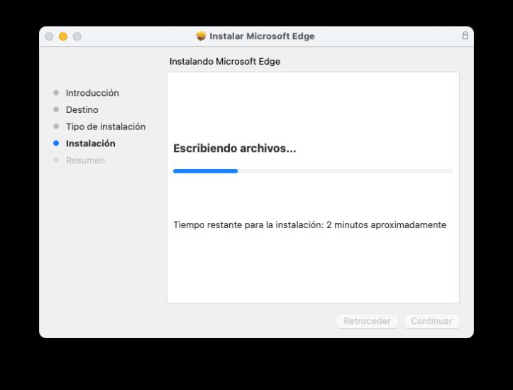 Instalar Microsoft Edge en macOS