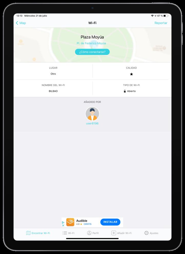 Instabridge para iOS y iPadOS