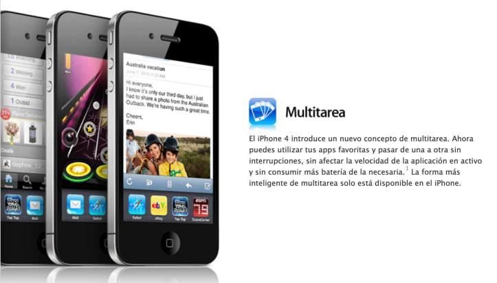 Multitarea en iOS 4