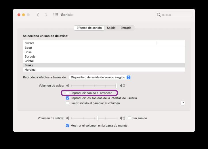 Desactivar sonido al arrancar en Mac