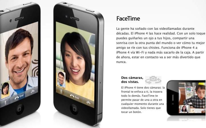 FaceTIme en iOS 4